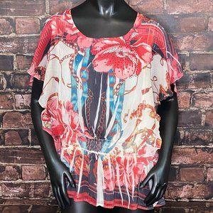 Hannah Sheer Floral Tunic
